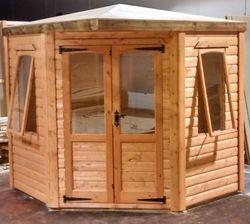 Corner Summer House (7' x 7') 19mm Loglap Cladding
