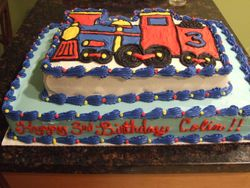 Two Tier Train Cake (View 2)