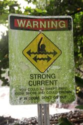 Strong current, becareful