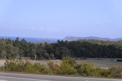 Overlooking the Parry Beach area from Highway viewing area