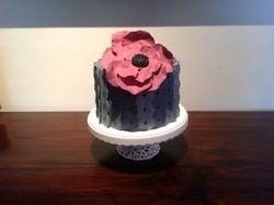 Gray Single Tier Cake