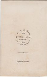 W. N. Hobbs, photographer, of Exeter, NH - back