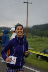 Andrea at the start of leg 2