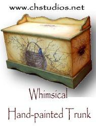 Custom Hand-painted Basket Trunk