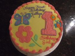 Butterfly/ Flower 1st Birthday Cake