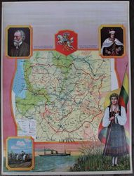 Plakatas Lietuva. 1929 m. Kaina 152