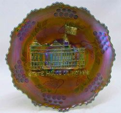 "Indiana State House 7 1/2"" plate - blue"