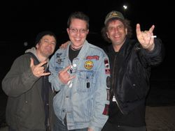 Spike Cassidy and Harald Oimoen of D.R.I. with Karl