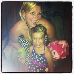 Pool time with Riley bug!