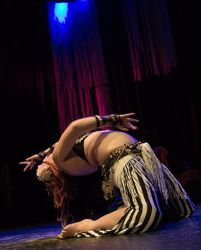Kayla, doing a Tribal Fusion solo!