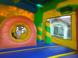 Adventure Mega Combo Jumper with Slide, obstacles, Climbig wall and basket ball hoop