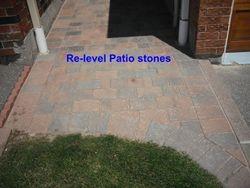 Patio stones releveling