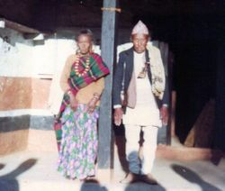 Mr Purna Bahadur Pahim and 5th  wife Sendang