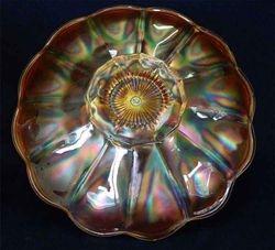 "N's Flute 9"" plate - marigold"