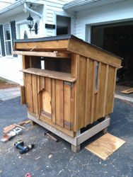 small chicken coop - front/side view