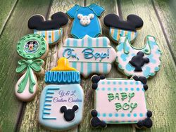 Baby Shower Custom Cookies Mickey Mouse Theme