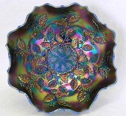 Holly eight ruffled bowl - blue opal