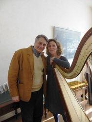 With La Scala Principal Harpist Luisa Prandina