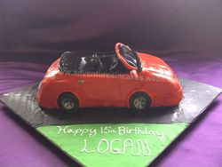 Sports Car Cake