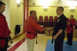 Presentation to Sempai Mark Petrie of Shodan Ho and Membership in the Scottish Fighting Arts Society