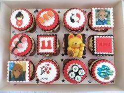 Japanese themed Birthday Cupcakes