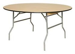 "60"" Wooden Table $10.00ea"