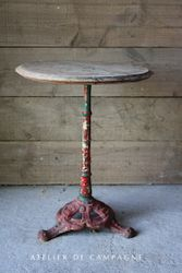 #29/249 FRENCH BISTRO TABLE RED