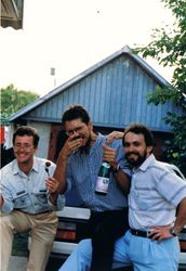 With Igor & Sergei, Raubichi, Belarus, 1995