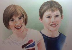 Double childrens portrait