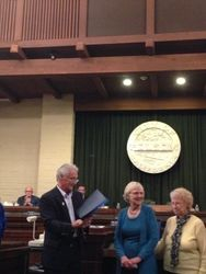 Mayor Stephen Miklos Presenting Commendation