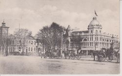 Christchurch Cathedral Square in late 1800's