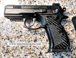 CZ 75 / 85 P01 COMPACT True Tactical black CF mounted