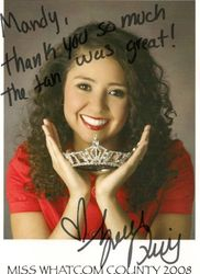 Miss Whatcom County 2008 - Zandra
