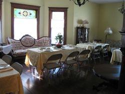 Dinner in the ballroom