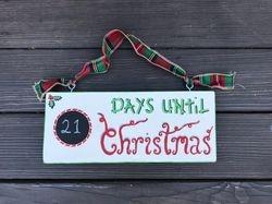Countdown til Christmas sign