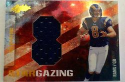 SAM BRADFORD 2010 Absolute Star Gazing Rookie Card Jersey 8/10