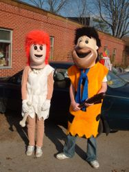 Fred and Wilma Mascots