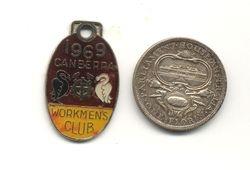 Workmen's Club Badge & 1927 two bob piece