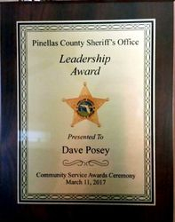 Pinellas County Sheriff's Award to Dave Posey