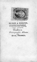 Munson & Wolfer, photographers, Peru, IL - back