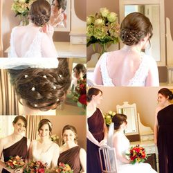 Stylish and elegant plaits updo for the lovely Miriam on her wedding