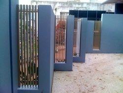 Vertical bar infill panels