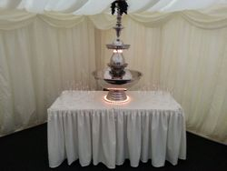 Beverage Fountain Hire, Includes Table hire and Dressed as in Picture.