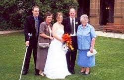 Brett, Jenny, Carly, Kevin & Mum at Carly & Paul's Wedding