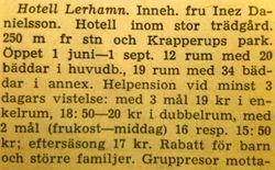 Hotell Lerhamn 1960