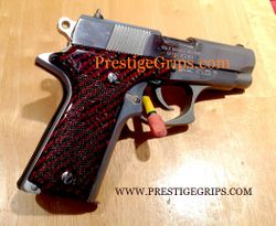 COLT DOUBLE EAGLE MK II Series 90 Checkered Red CF mounted