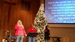 Leading in worship for our Carol Sing