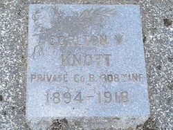 Cemetery Stone of Carlton Knott, WA