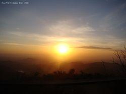 The sunset is beginning