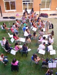 Ensayo de la orquesta profesional